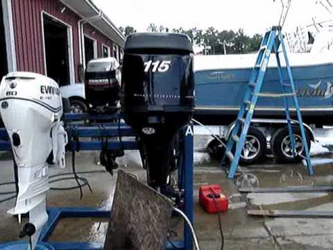 115 HP MERCURY OPTIMAX OUTBOARD  YouTube
