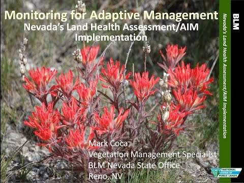SRM 2015: Applying AIM in Nevada for Sage Grouse Habitat and Grazing Management