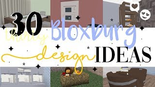 30 ORIGINAL BLOXBURG DESIGN/FURNITURE IDEAS