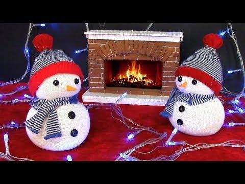 Снеговик из носков своими руками мастер класс