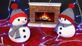 как сделать игрушку снеговика
