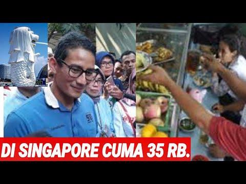 """SANDI;""""NASI AYAM DI SINGAPORE LEBIH MURAH DARI INDONESIA;35 RB;DI INDONESIA BISA SAMPAI 50 RB;BLUNDE"""