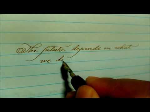 My first calligraphy video (Nikko 5) as my entry to MyMoleskin creativity challenge