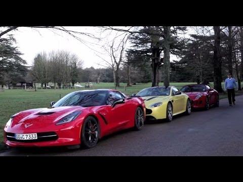 Corvette Vs Aston Martin V12 Vantage S Jaguar F Type V8s Hillclimb Roadtest 1500bhp Shoot Out
