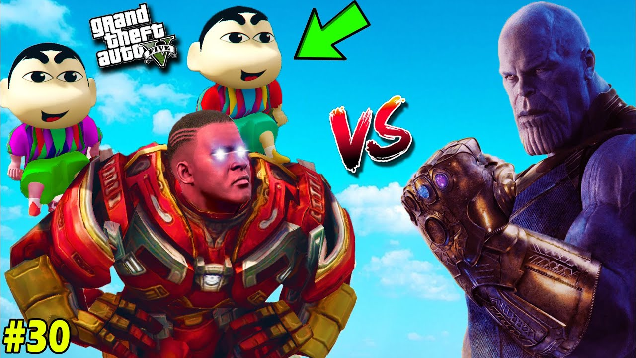 FRANKLIN and SHINCHAN Try to SAVE PINCHAN from THANOS in GTA 5 [PART 30](GTA 5 Mod)