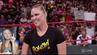 WWE Raw 7/16/18 Ronda Rousey Suspended AGAIN