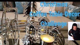 Christmas Coffee Table Decor Challenge