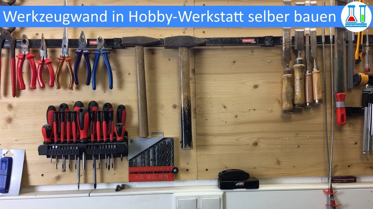 diy werkzeugwand in der werkstatt selber bauen und einrichten mit magnetleisten und. Black Bedroom Furniture Sets. Home Design Ideas