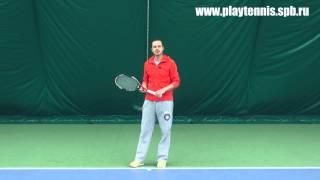 Уроки тенниса. Слева двумя руками.  Работа запястья