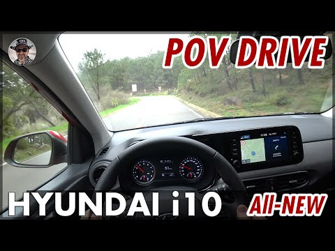 All-NEW HYUNDAI i10 1.0 l 64 hp (48 kW) POV DRIVE Portugal Country Roads On-Board | 2020