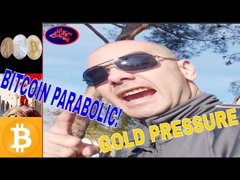 GOLD PRESSURE, BITCOIN STILL GOING PARABOLIC!!
