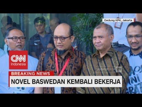 Novel Baswedan Kembali Bekerja Di KPK