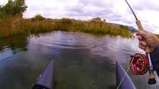 Dave Scadden's Air Craft Ultra Lite Float Tube on Big Bows!!!