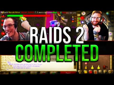 Raids 2 First Ever Completed Raid With Rewards OSRS, B0aty, Woox, Faux, Mr Mammal ..