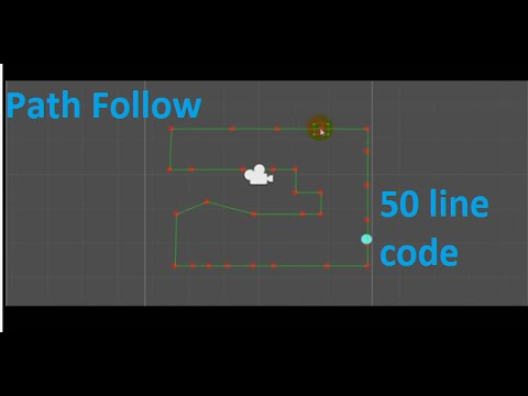 Unity 5 Tutorial -  Create Path Follow For Absolute Beginner - Basic of Algorithms