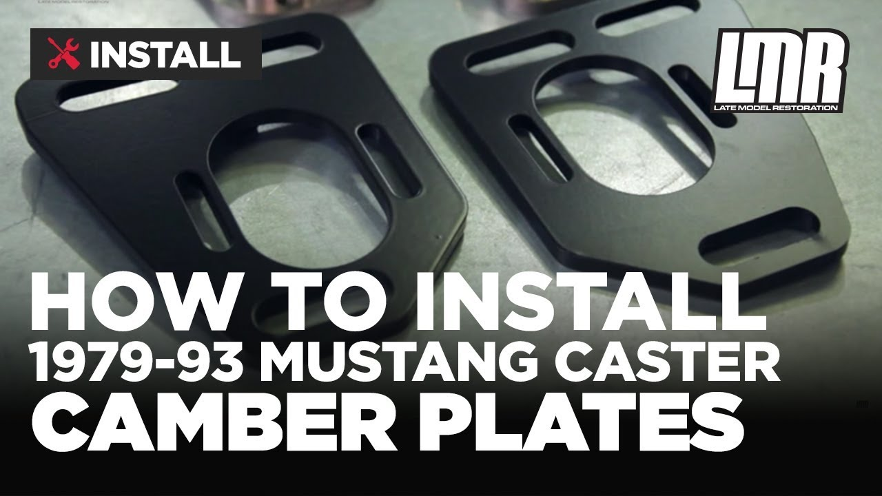How To Install Fox Body Mustang Caster Camber Plates 1979