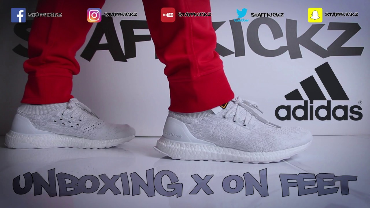 7528a25ff8b Adidas Ultra Boost Uncaged Triple White - Unboxing   On Feet - YouTube