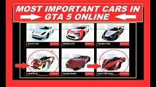 GTA 5 Online BEST AND FASTEST CARS IN GAME , Supercar , Muscle Cars , Sportscars
