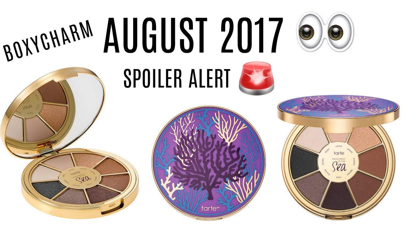 august 2017 boxycharm spoiler alert youtube