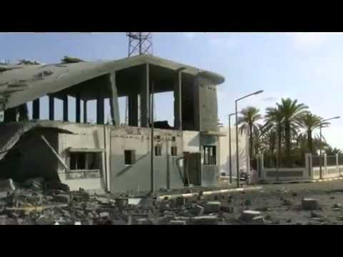 Sirte on 17_9_2011 Station radio bombed by NATO , libya