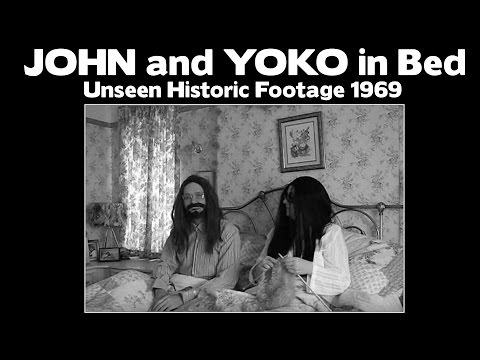 JOHN AND YOKO IN BED  - Unseen Historic Footage