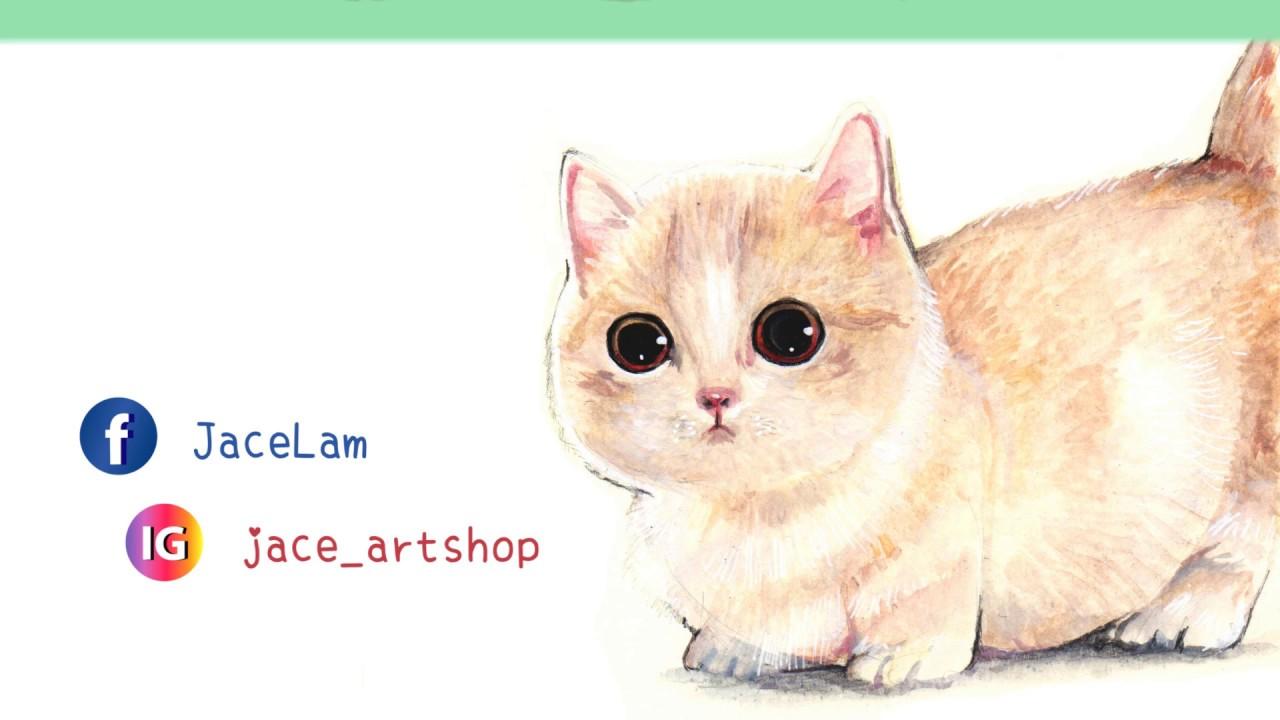 || 手繪水彩貓咪分享 || JACE - YouTube