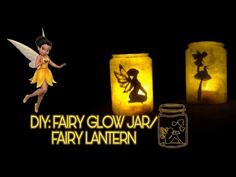 Fairy Lantern Tutorial/ DIY: Fairy Glow Jars (No tissue paper needed) || Night Light For Your Room
