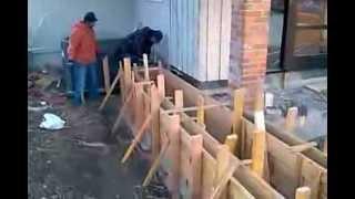 Veterans Concrete,...planter Form-work Pre-pour