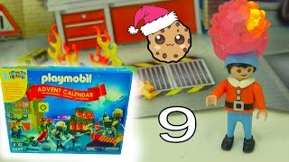 fireman playmobil holiday christmas advent calendar toy surprise blind bags day 9