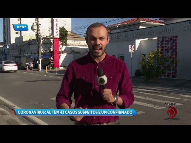 Coronavírus: Sobe para 43 o número de casos suspeitos em Alagoas