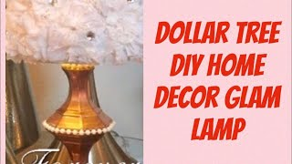 Dollar Tree DIY Home Decor Glam Lamp|  DIY Glam Lamp