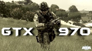 ARMA 3 GTX 970 OC | 1080p Ultra Settings | FRAME-RATE TEST