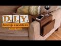 DIY - Bandeja para braço de Sofá com revisteiro| Decoração Gastando Pouco