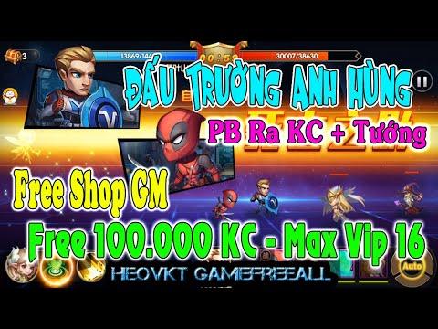 GameFreeAll 549: Đấu Trường Anh Hùng (Android,PC) | 100.000 KC + Vip 16 + Gm + PB Ra KC [HeoVKT]