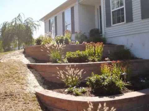 raised beds flower garden retaining