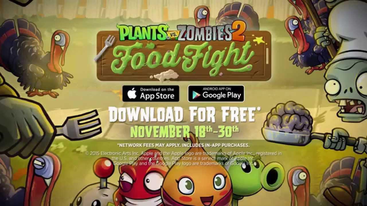 Plants Vs Zombies 2 Food Fight Trailer