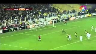 Fenerbahce 2-0 Lazio (1.Gol Dk.78 Webo) UEFA Ceyrek Final 4.4.2013