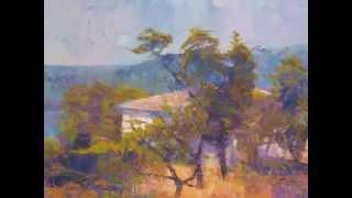 Мастер класс по живописи Sergey Borisov, авторские работы гуашью.