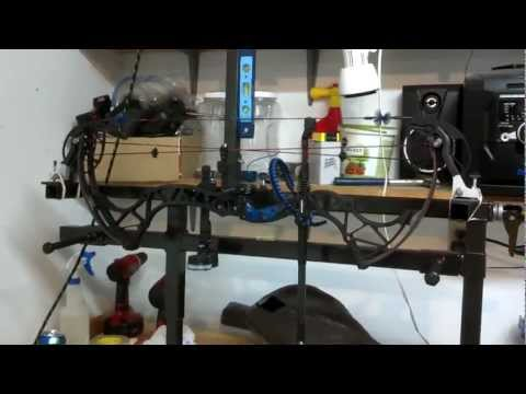 home built bowpress with draw board 2