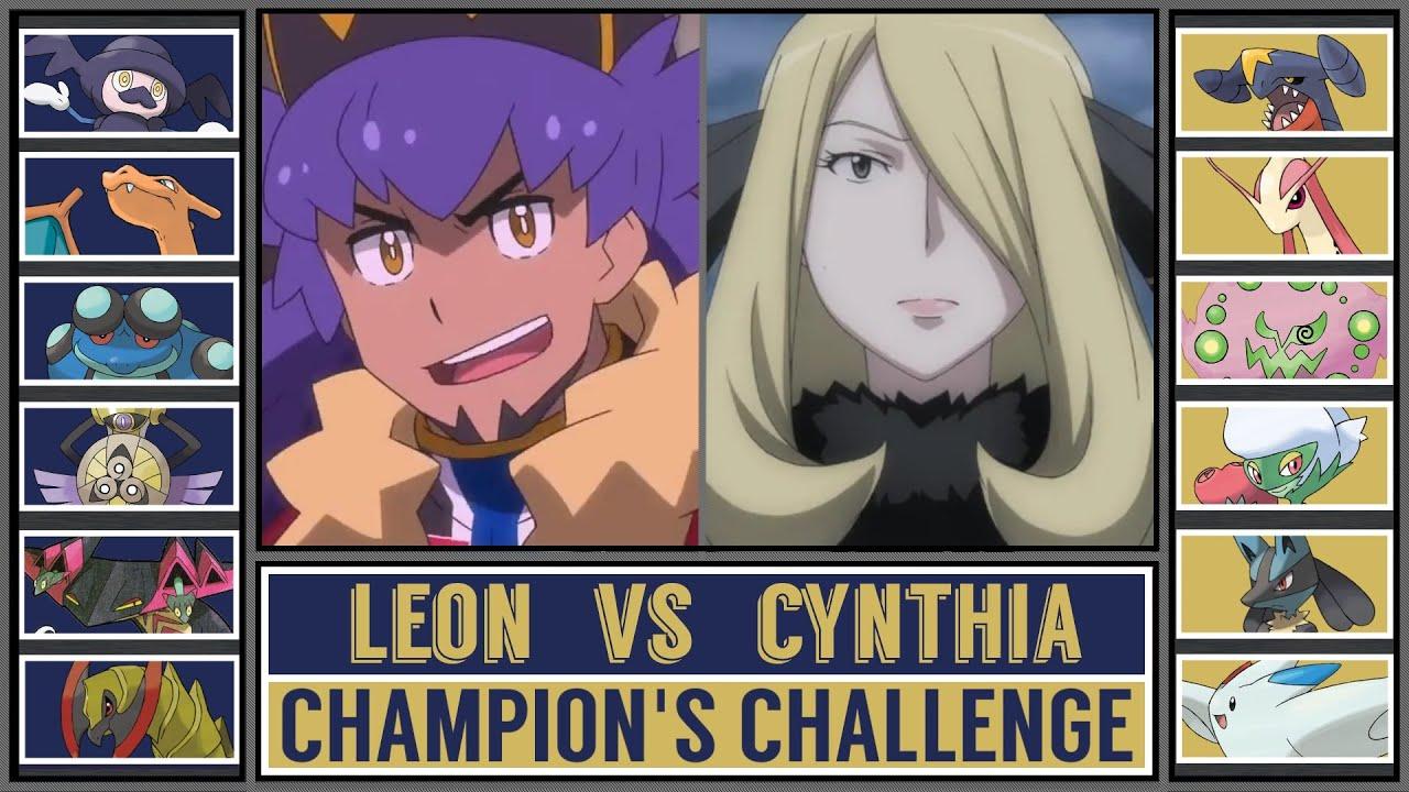 LEON vs CYNTHIA   Pokémon Champion Battle