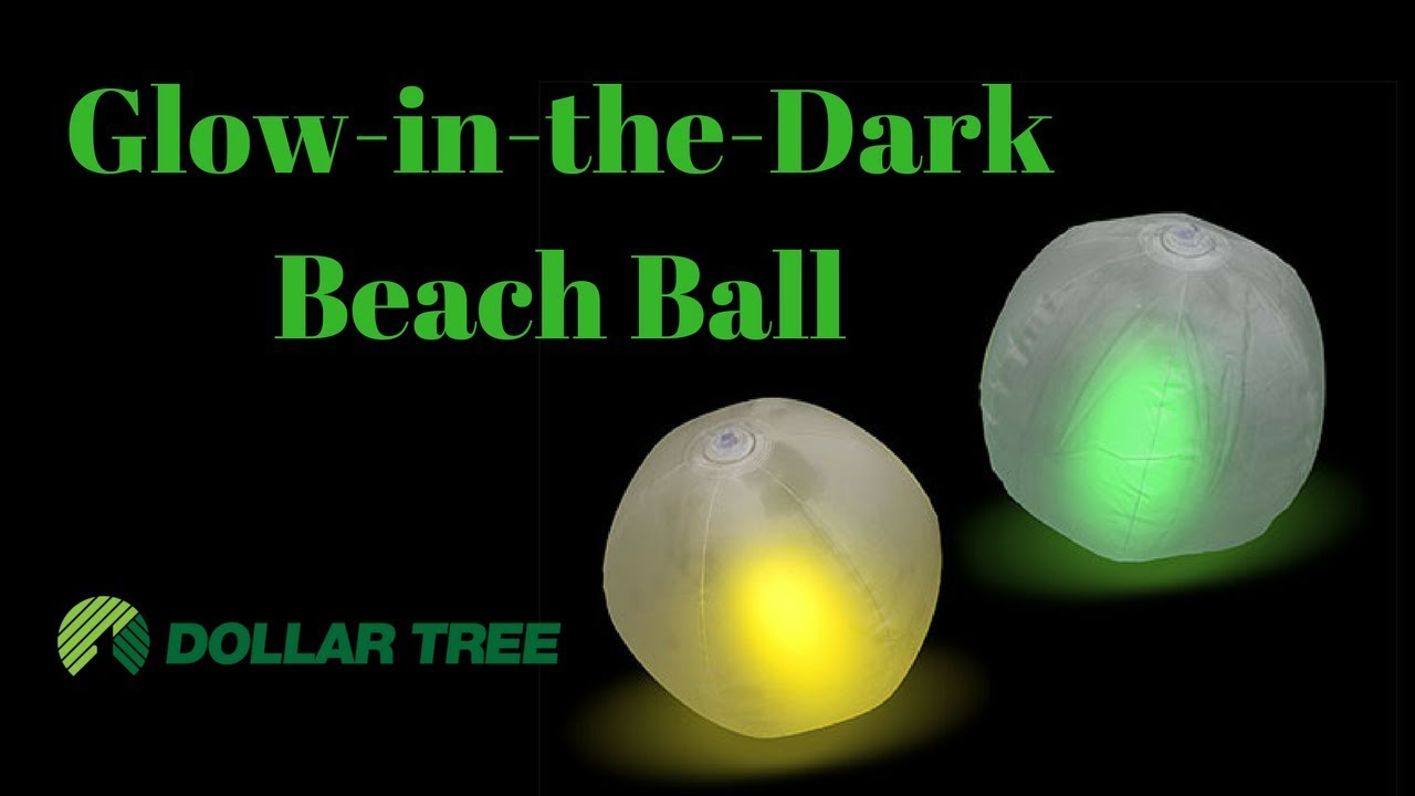 """Set of 2 ~ 12/"""" Glow Beach Balls That Are Clear w// Green /& Yellow Glowsticks"""