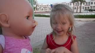 БЕБИ БОН в ЕГИПТЕ на море на детской площадке Baby Born Видео для детей