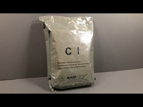 2016 Indonesian C1 Portable Ration Pack MRE Review Lightweight Meal Ready To Eat Taste Test