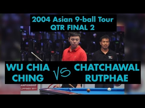 Wu JIA QING vs Chatchawal RUTPHA - QF 2004 Asian 9-ball Tour