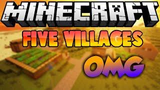 Five Villages - Biggest Village Ever!?! - Minecraft Pe 0.15.4