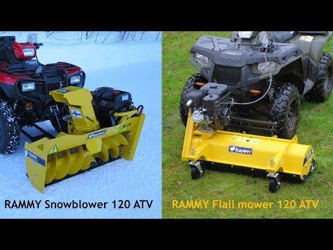 Rammy Flail mower 120 ATV & Snowblower 120 ATV EC introduction 2019