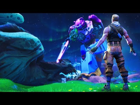 Reacting to MECHA vs MONSTER (Fortnite Live Event)