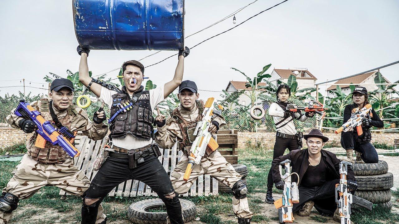 LTT Nerf War : Female Police Officer SEAL X Warriors Nerf Guns Fight Dr Ken Crazy Rescue Captain