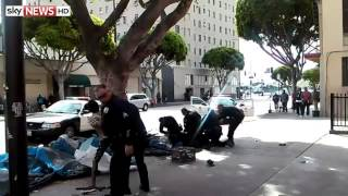 Video: Police Shoot Man On Skid Row