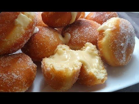 une-délicieuse-recette-de-beignets-fourrés-à-la-crème😍😋🥯